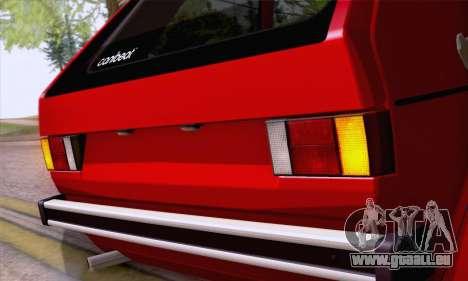 Volkswagen Golf Mk I 1978 pour GTA San Andreas vue arrière