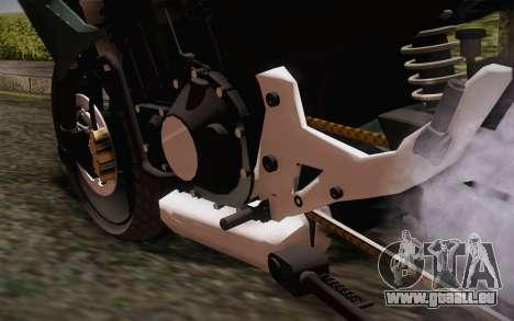 Yamaha FZ6 pour GTA San Andreas vue arrière