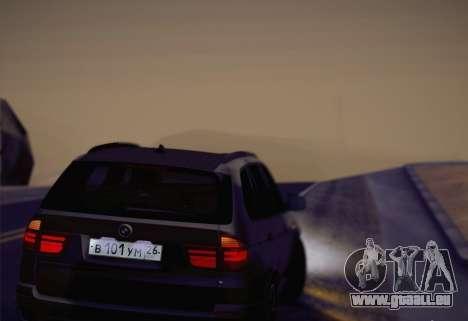 BMW X5M 2013 pour GTA San Andreas vue arrière