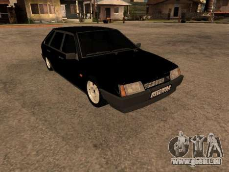 VAZ 2109 Gangster neuf V 1.0 pour GTA San Andreas sur la vue arrière gauche