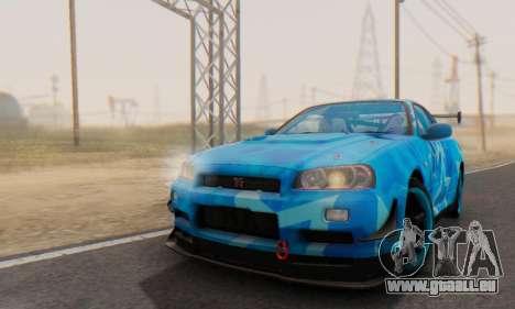 Nissan Skyline GTR 34 Blue Star pour GTA San Andreas