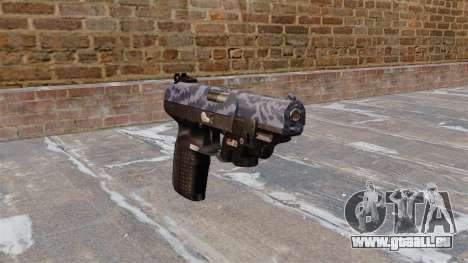 Pistolet FN Cinq à sept LAM Bleu Camo pour GTA 4