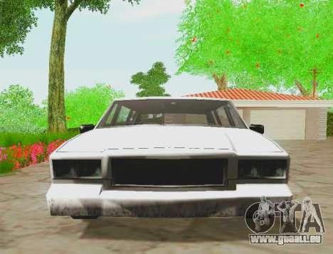 Tahoma Limousine pour GTA San Andreas vue de droite