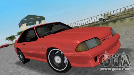 Ford Mustang Cobra 1993 pour GTA Vice City vue arrière