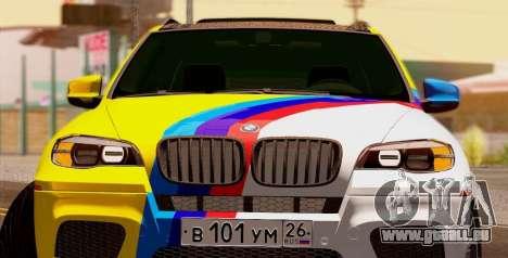 BMW X5M 2013 pour GTA San Andreas laissé vue
