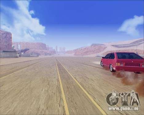 VAZ 2112 Accordables pour GTA San Andreas sur la vue arrière gauche