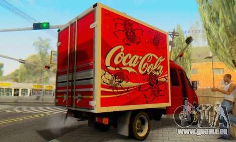 33023 GAZelle Coca-Cola pour GTA San Andreas sur la vue arrière gauche