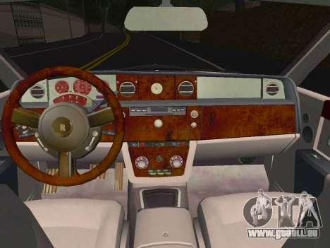 Rolls-Royce Phantom Limo für GTA San Andreas Rückansicht