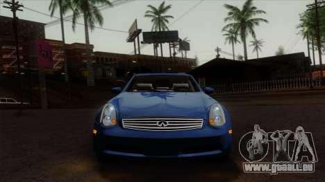 Infiniti G35 Coupe (V35) 2003 für GTA San Andreas Rückansicht