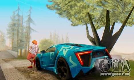 W-Motors Lykan Hypersport 2013 Blue Star für GTA San Andreas