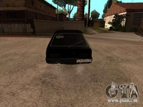 VAZ 2109 Gangster neuf V 1.0 pour GTA San Andreas vue arrière