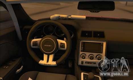 Dodge Challenger SRT8 2012 für GTA San Andreas Rückansicht