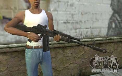 AK74M pour GTA San Andreas troisième écran