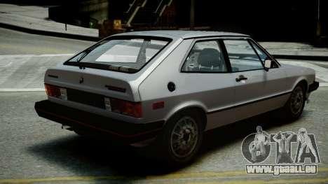 Volkswagen Scirocco S 1981 für GTA 4 linke Ansicht