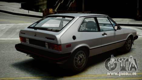 Volkswagen Scirocco S 1981 pour GTA 4 est une gauche