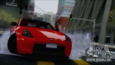 Nissan 370Z Vossen für GTA San Andreas Innenansicht