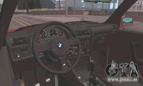 BMW E30 M3 1991 pour GTA San Andreas vue arrière