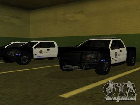 LAPD Ford F-150 Raptor für GTA San Andreas zurück linke Ansicht