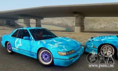 Nissan Silvia S13 Blue Star pour GTA San Andreas vue arrière