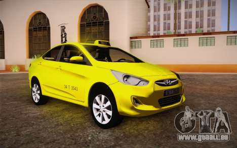 Hyundai Accent Taxi 2013 für GTA San Andreas