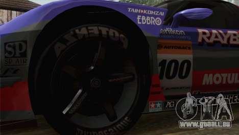 Honda NSX World Grand Prix pour GTA San Andreas sur la vue arrière gauche