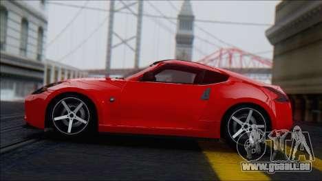 Nissan 370Z Vossen für GTA San Andreas Rückansicht