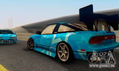 Nissan 240SX Blue Star pour GTA San Andreas vue intérieure