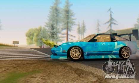 Nissan 240SX Blue Star pour GTA San Andreas sur la vue arrière gauche