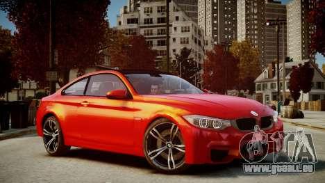 BMW M4 Coupe 2014 v1.0 pour GTA 4 Vue arrière de la gauche