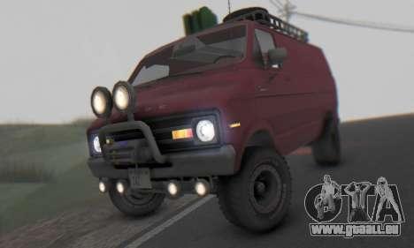 Dodge Tradesman Van 1976 pour GTA San Andreas laissé vue