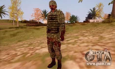 Zombie Soldier für GTA San Andreas sechsten Screenshot
