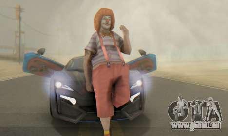 W-Motors Lykan Hypersport 2013 Blue Star für GTA San Andreas Innen