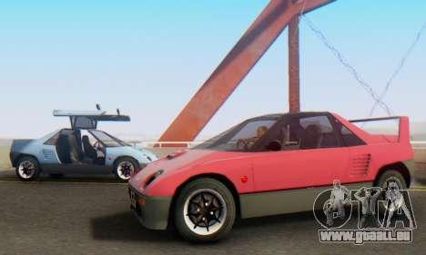 Mazda Autozam AZ-1 pour GTA San Andreas laissé vue