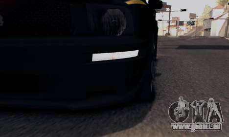 Ford Mustang Shelby Terlingua 2008 NFS Edition für GTA San Andreas Unteransicht