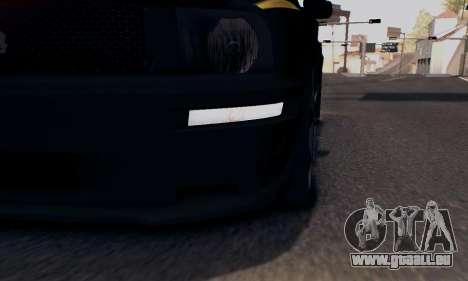 Ford Mustang Shelby Terlingua 2008 NFS Edition für GTA San Andreas Unteransicht