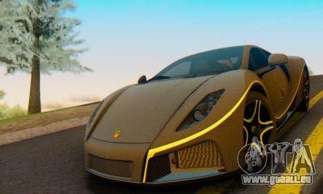 GTA Spano 2014 Carbon Edition pour GTA San Andreas sur la vue arrière gauche