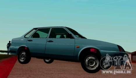 VAZ-21099 pour GTA San Andreas laissé vue