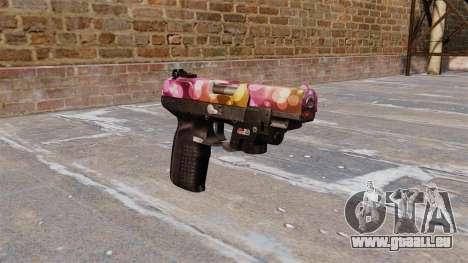 Pistole FN Fünf von sieben Punkten LAM für GTA 4