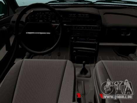 VAZ-21099 pour GTA San Andreas sur la vue arrière gauche
