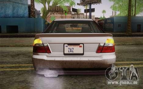 Sultan из GTA 5 pour GTA San Andreas vue arrière