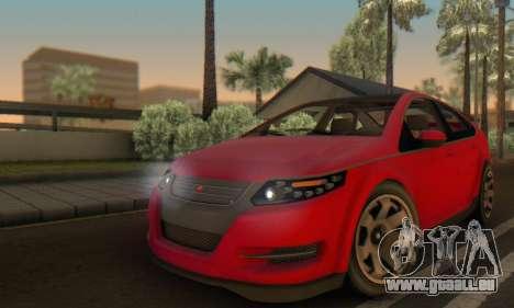 Cheval Surge V1.0 pour GTA San Andreas vue de dessus