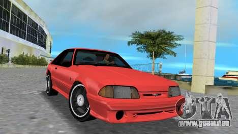 Ford Mustang Cobra 1993 pour une vue GTA Vice City de la gauche