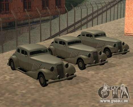 Nouvelle Voiture (Hustler) pour GTA San Andreas sur la vue arrière gauche