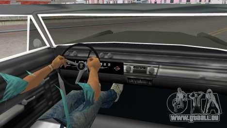 Cadillac DeVille 1967 Lowrider für GTA Vice City zurück linke Ansicht