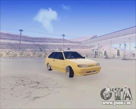 VAZ 2112 Accordables pour GTA San Andreas vue de dessous
