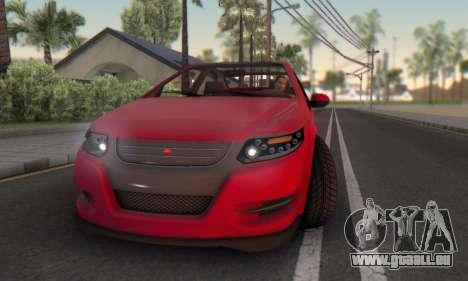 Cheval Surge V1.0 pour GTA San Andreas vue de dessous