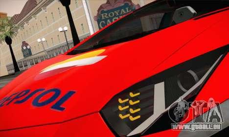 Lamborghini Aventador LP700-4 pour GTA San Andreas vue intérieure