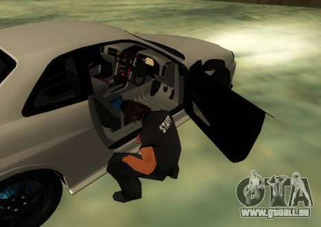 Nissan Skyline R34 V-Spec pour GTA San Andreas sur la vue arrière gauche