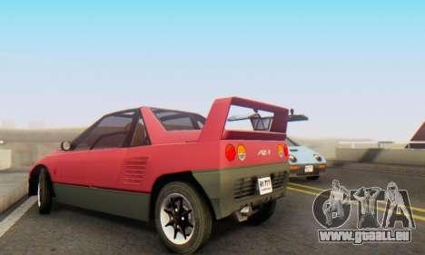 Mazda Autozam AZ-1 pour GTA San Andreas vue intérieure