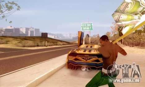Ein Schild Werbung für Bier für GTA San Andreas dritten Screenshot